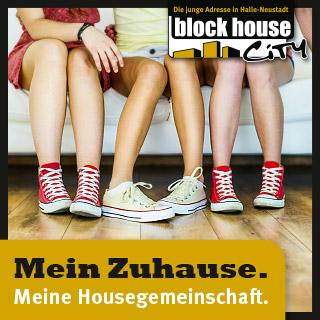 Flyer Blockhouse Wohnungen